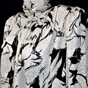 Tess Paris Milano Blouse Vintage White Black